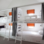 Bright-cheap-bunk-beds-with-stairs-in-Contemporary-Melbourne-with-Kids-Room-With-Two-Beds-next-to-Bedroom-Curtain-Ideas-alongside-Large-Windows-Treatments-andBay-Window-Treatment-Ideas-